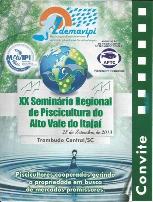 seminario de piscicultura do alto vale do itajai