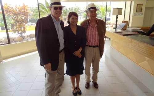 Árni Mathiesen, Mónica Maldonado y Juan M. Vieites Baptista de Sousa