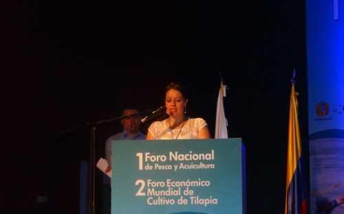 Apertura del Foro: Sara Patricia Bonilla, Directora Ejecutiva de FEDEACUA Nacional
