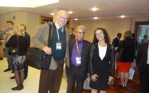 Los directores de INFOPESCA y de INFOPECHE juntos con la Sra Cláudia Gama, Jefa de Gabinete del Ministro de Pesca y Acuicultura de Brasil