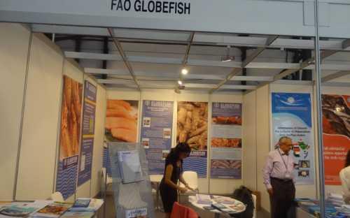 Stand conjunto Globefish e INFO Services