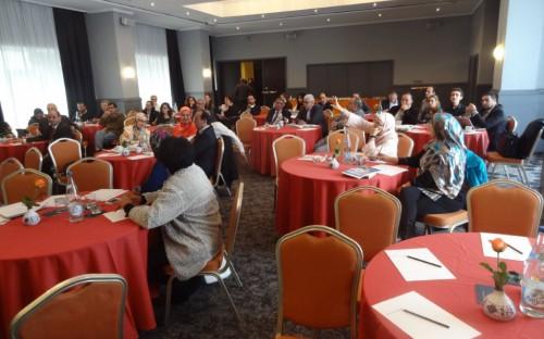 Empresarios pesqueros marroquis participantes del taller
