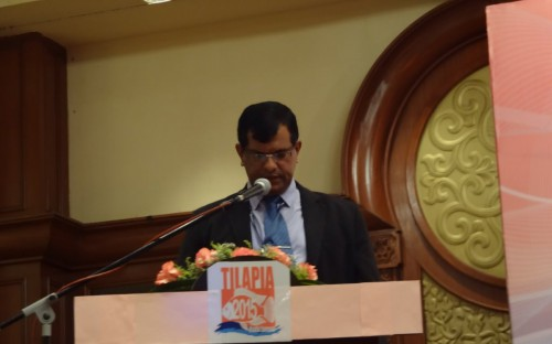El director de INFOFISH, Abdul Basir Kunhimohamed dando las bienvenidas a la Conferencia