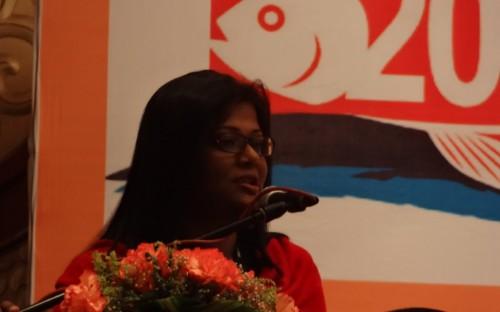 Shirlene Maria Anthonysamy, de INFOFISH, presentando el mercado asiatico