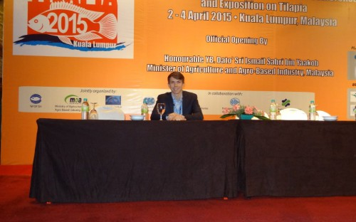 Niklas Wehner, presentando el GSSI (Global Sustainable Seafood Iniciative)