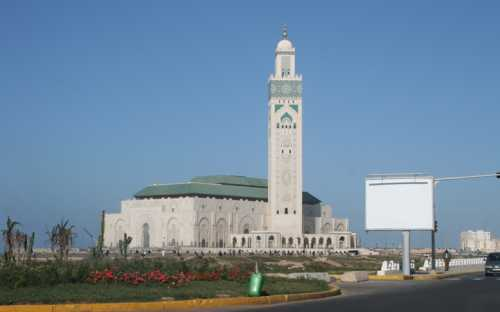 La gran Mesquita Hassan II en Casablanca