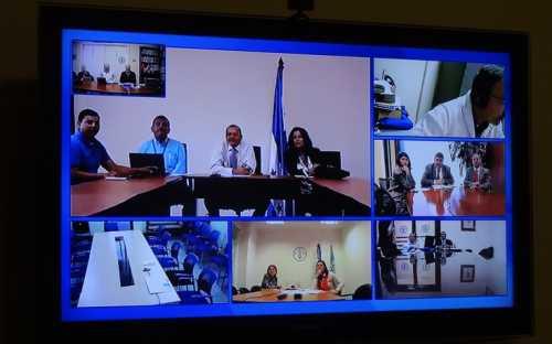 El ex-Presidente de la Asamblea General, Javier Zelaya, director de la DIGEPESCA de Honduras, presidió la 10ª Reunión de la Asamblea General. También presentes Julián Suazo y Eloisa Espinoza, de DIGEPESCA