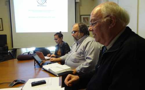 El director de INFOPESCA y el Dr. Daniel Gilardoni, Director General de la DINARA de Uruguay