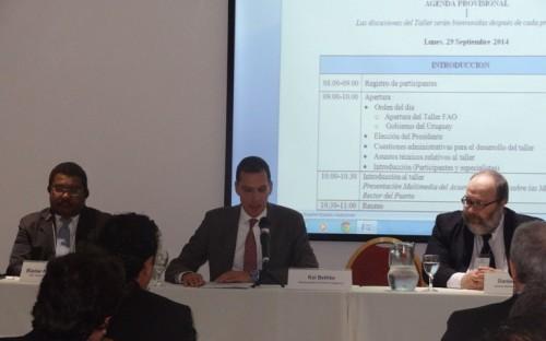 Apertura del Taller por el Dr. Kai Bethke, en representación del Director General de la FAO