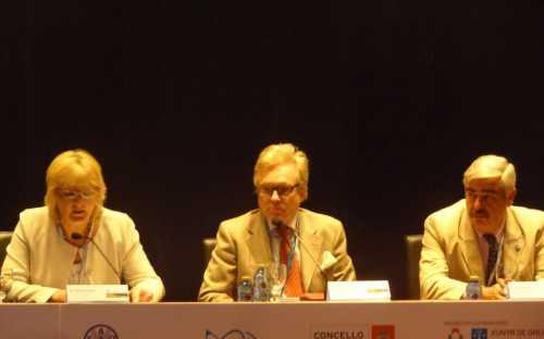 Aina Afanesjeva, Audun Lem y Ignacio Sobrino en la primera sesion