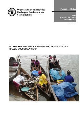 ESTIMACIONES DE PÉRDIDA DE PESCADO EN LA AMAZONIA (BRASIL, COLOMBIA Y PERÚ) FIAM/C1198